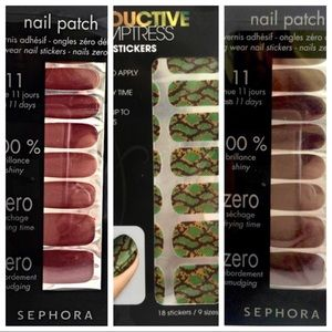 3 NEW, UNOPENED Packages of Nail Stickers